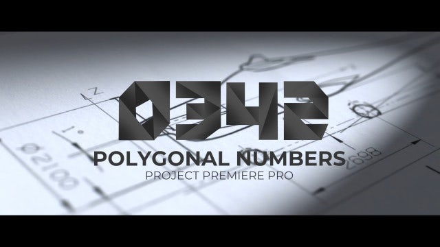 Polygonal Numbers: Premiere Pro Templates