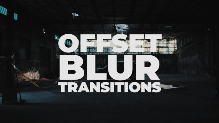 Offset Blur Transitions: Premiere Pro Presets