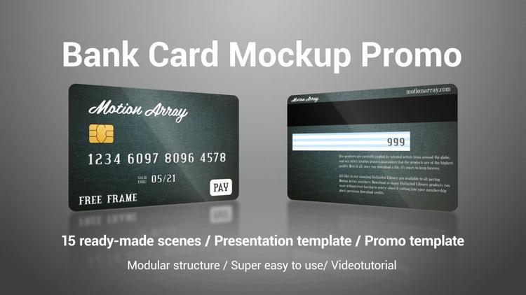 Bank Card Mockup Promo: Premiere Pro Templates