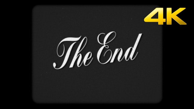 Super 8mm The End Stock Motion Graphics Motion Array