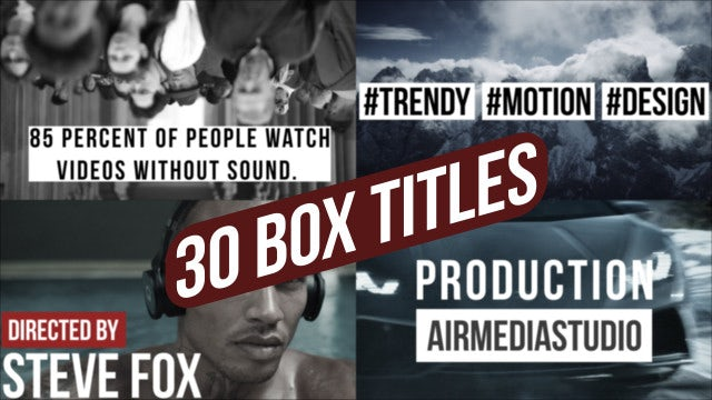 Box Titles Creator: Motion Graphics Templates