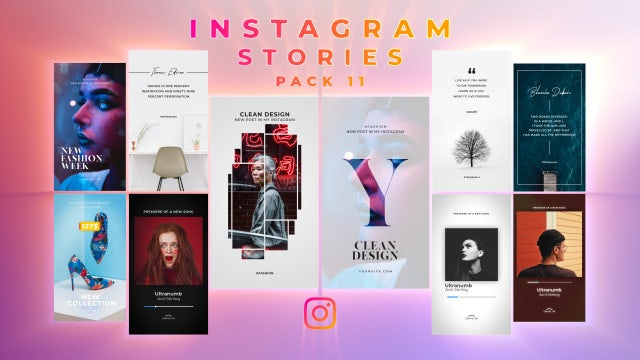 Instagram Stories Pack 11: Motion Graphics Templates