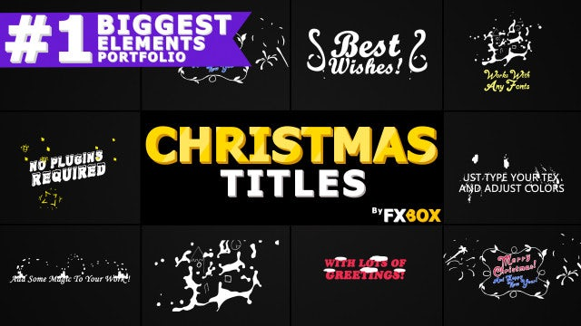 Christmas Titles And Transitions: After Effects Templates