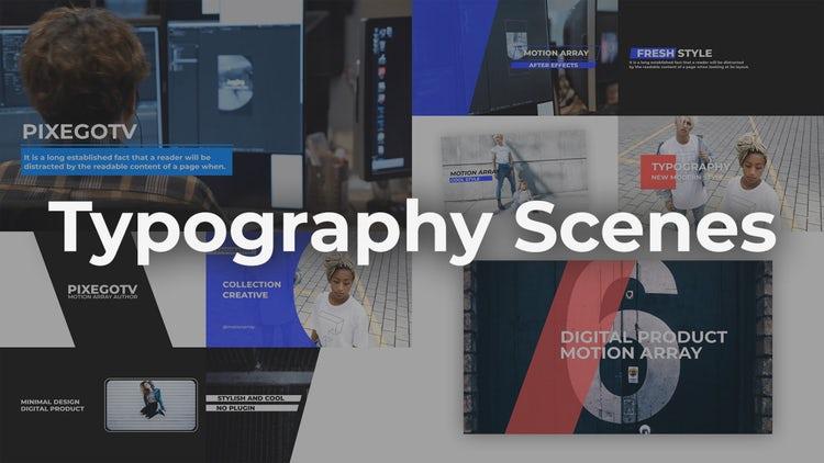Typography Scenes: Premiere Pro Templates