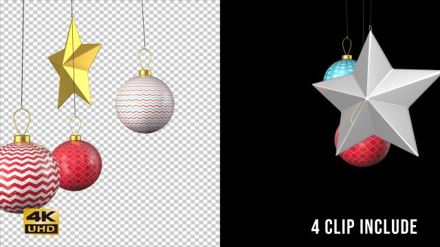 Christmas Ornaments Pack Vol. 1: Stock Motion Graphics