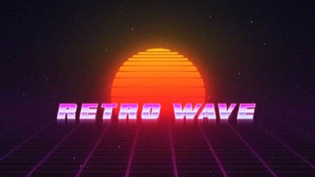 Retro Wave Title: Motion Graphics Templates