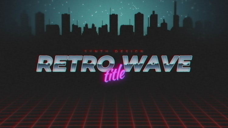 Retro Wave Title 2: Motion Graphics Templates