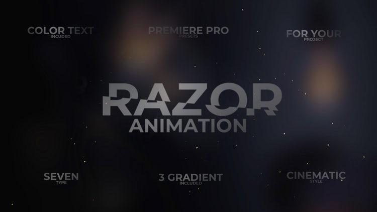 Razor Text: Premiere Pro Presets