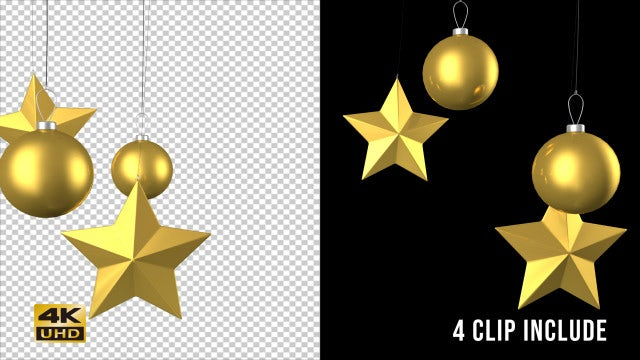 Christmas Ornaments Vol. 2: Stock Motion Graphics