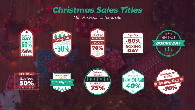 Christmas Sales Titles: Motion Graphics Templates