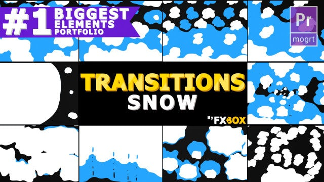 Snow Transitions: Motion Graphics Templates