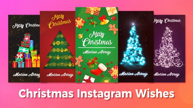 Christmas Instagram Wishes: Premiere Pro Templates