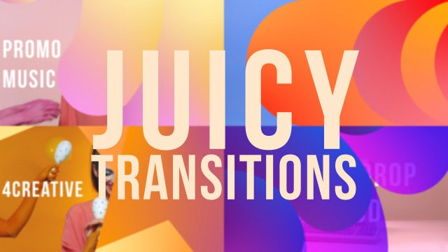 Juicy Shape Transitions: Motion Graphics Templates