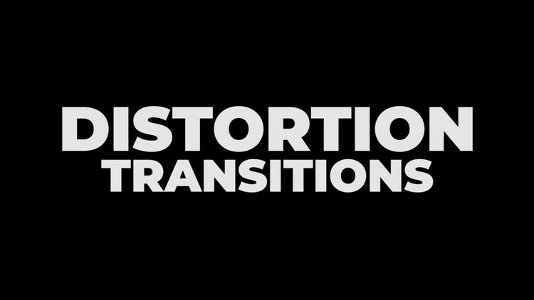 Distortion Transitions: Premiere Pro Presets