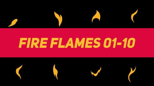 Liquid Elements Fire Flames 01-10: Motion Graphics Templates