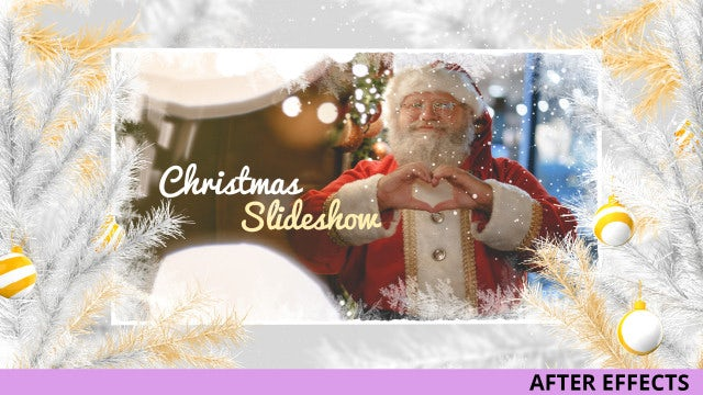 Gold And White Christmas Slideshow: After Effects Templates