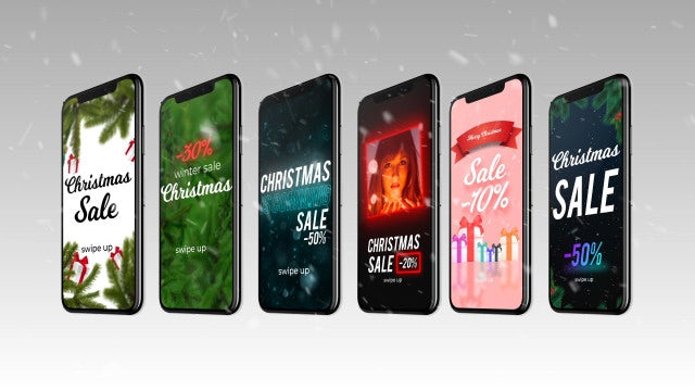 Instagram Stories Christmas Sale Pack: After Effects Templates