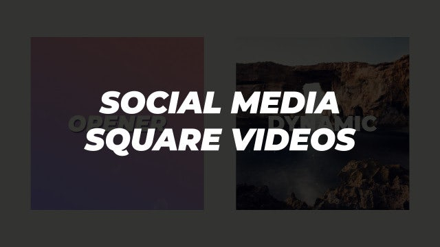 Square Openers: After Effects Templates