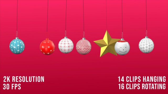Christmas Ornament Hanging Pack: Stock Motion Graphics