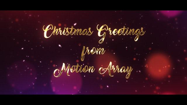 Christmas Greetings: Motion Graphics Templates