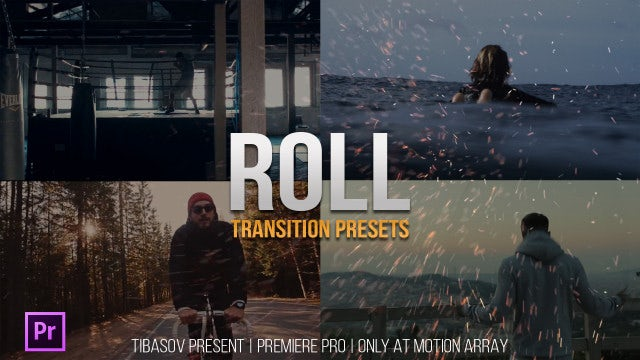 Roll Transition Presets: Premiere Pro Presets