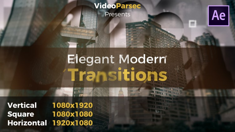 Elegant Modern Transitions: After Effects Templates