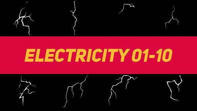Liquid Elements Electricity 01-10: Motion Graphics Templates