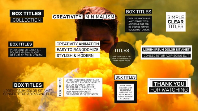 Social Media Box Titles: After Effects Templates