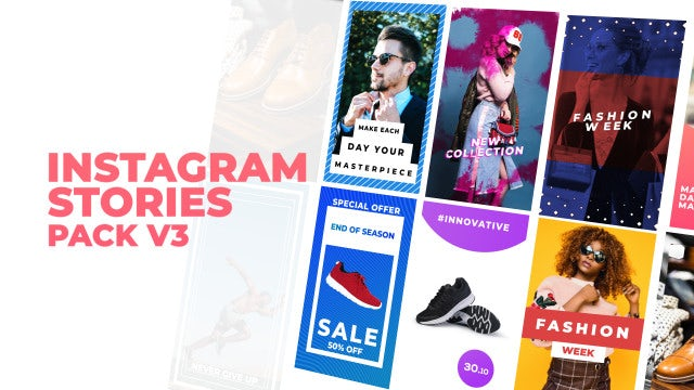 Instagram Stories Pack V3: After Effects Templates