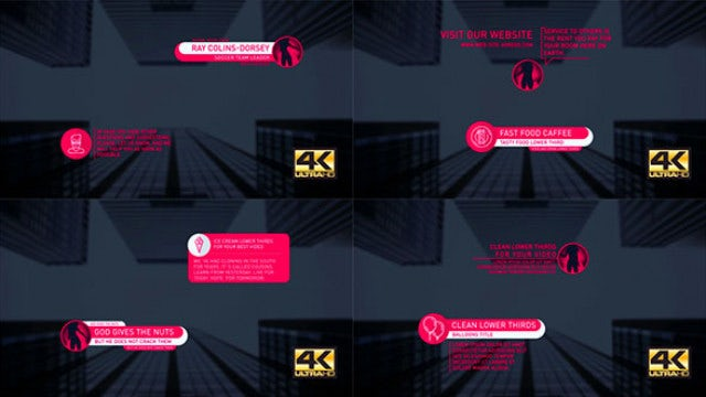 40+ Lower Thirds - Modern Titles: After Effects Templates