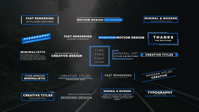 20 Animated Titles: Motion Graphics Templates