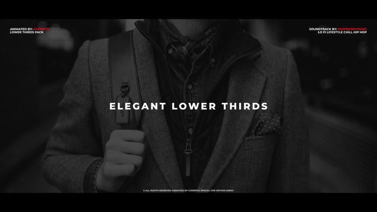 Elegant Lower Thirds: Premiere Pro Templates