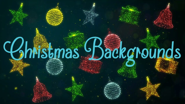 3D Particles Christmas Backgrounds Pack: Stock Motion Graphics