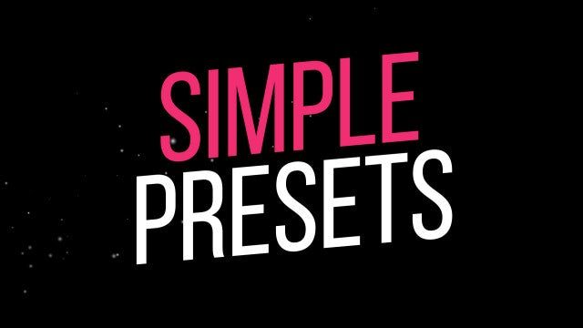 Simple Text Animation Presets: Motion Graphics Templates