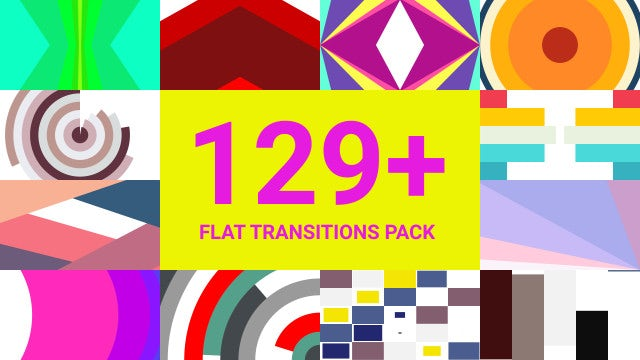129+ Flat Transitions Pack: Premiere Pro Templates