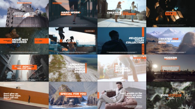 Creative Titles Pack: Motion Graphics Templates