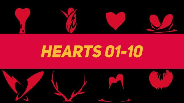 Liquid Elements Hearts 01-10: Motion Graphics Templates