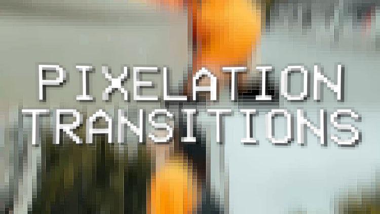 Pixelation Transitions: Premiere Pro Templates
