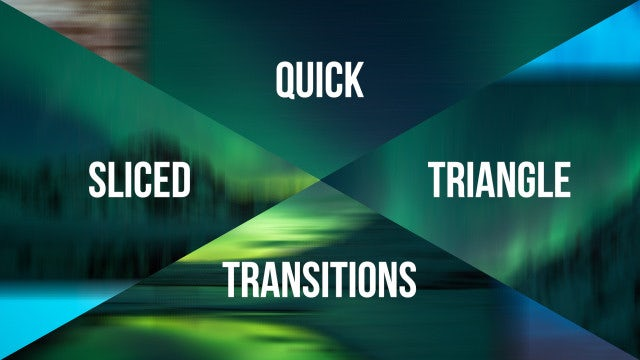 Quick Sliced Triangle Transitions: Premiere Pro Templates