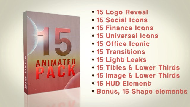 15 Animated Pack: After Effects Templates