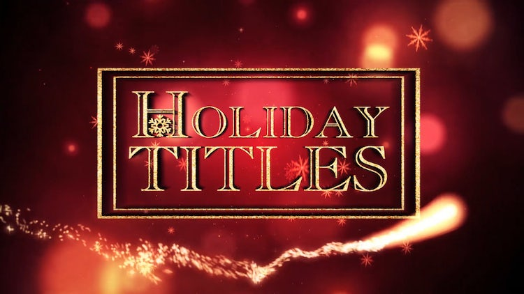 Holiday Titles: After Effects Templates