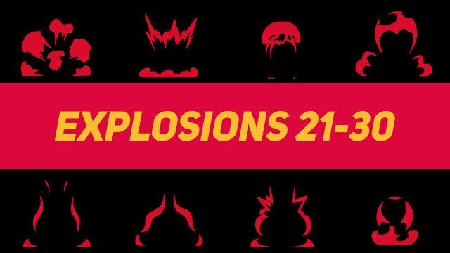 Liquid Elements Explosions 21-30: Motion Graphics Templates