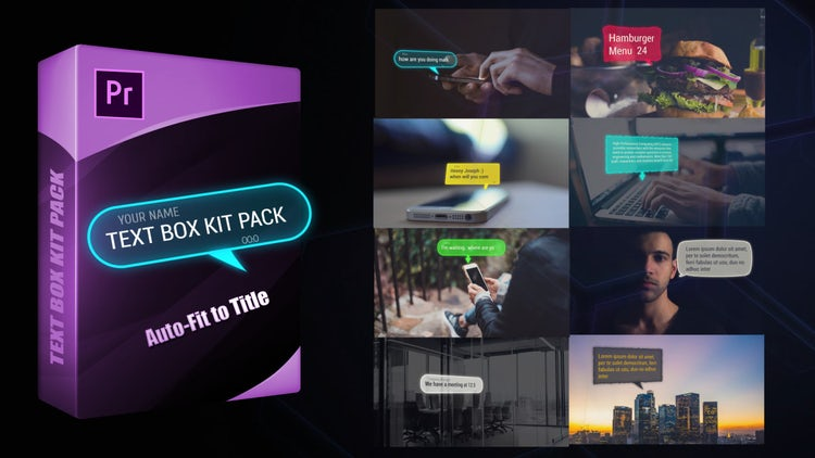 Text Box Kit Pack: Motion Graphics Templates