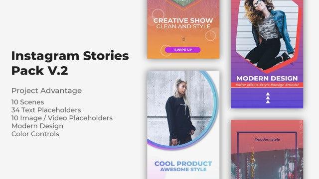 Instagram Stories Pack V.2: Premiere Pro Templates