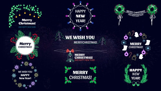 Christmas Titles: Motion Graphics Templates
