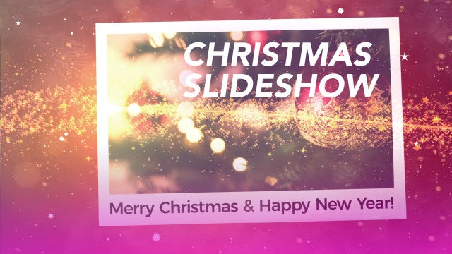 Holiday Christmas Slideshow: After Effects Templates