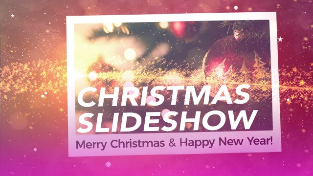 Holiday Christmas Slideshow: Premiere Pro Templates