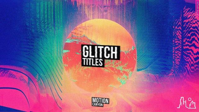 Glitch Titles & Lower Thirds: Premiere Pro Templates