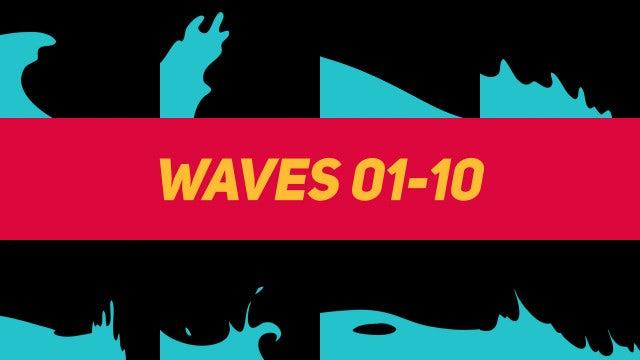 Liquid Elements Waves 01-10: Motion Graphics Templates