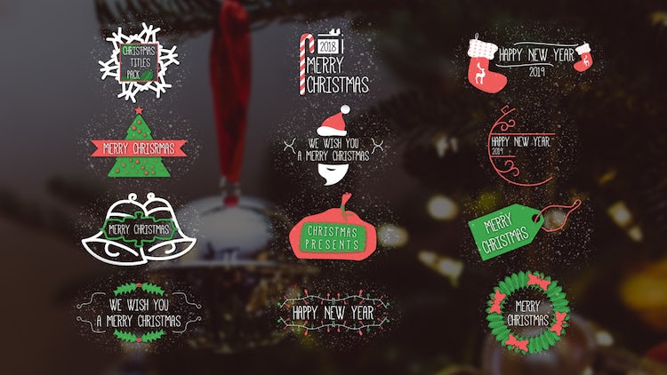 Christmas Titles Pack: After Effects Templates